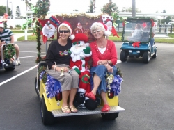 a-christmas golf cart
